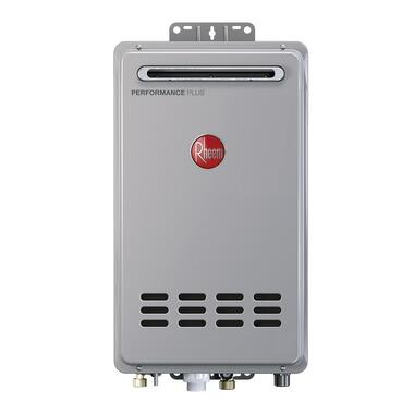Picture of a brand new Rheem water heater